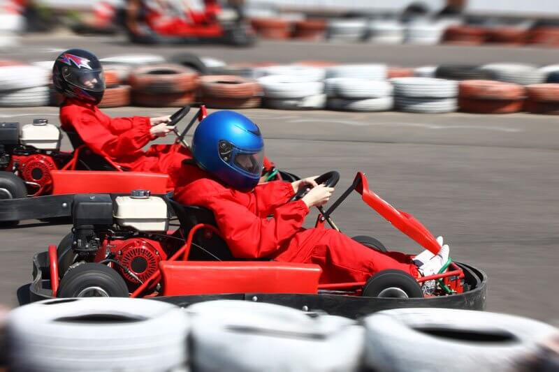 Go carting with friends