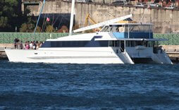 Aussie Legend boat hire sydney large catamaran